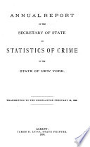 Report of the Secretary of State on Statistics of Crime