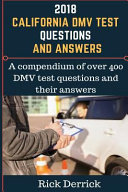 2018 California Dmv Test Questions and Answers
