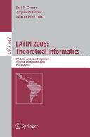 LATIN 2006: Theoretical Informatics
