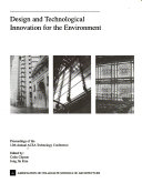 Design and Technological Innovation for the Environment Book PDF