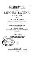 Grammatica della lingua latina