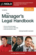 Manager's Legal Handbook, The
