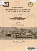 Overview for Design and Construction of Drilled Shafts in Cohesive Soils