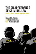 The Disappearance of Criminal Law