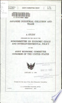 Japanese Industrial Collusion and Trade