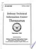Defense Technical Information Center Thesaurus