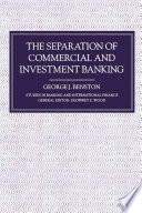 Separation of Commercial and Investment Banking