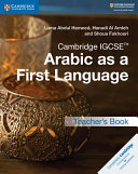 Books - Cambridge Igcse� Arabic As A First Language Teacher�s Book | ISBN 9781316636190