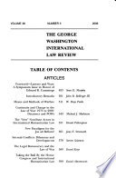 The George Washington International Law Review