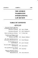 The George Washington International Law Review