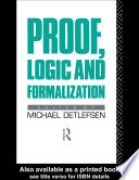 Proof  Logic and Formalization