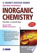 S.Chands Success Guide (Q&A) Inorganic Chemistry Pdf/ePub eBook