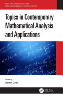 Topics in Contemporary Mathematical Analysis and Applications Pdf/ePub eBook