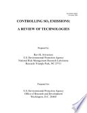 Controlling SO2 emissionsa review of technologies