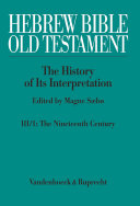 Hebrew Bible   Old Testament  III  From Modernism to Post Modernism