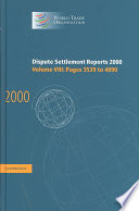Dispute Settlement Reports 2000: Volume 8, Pages 3539-4090