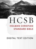 The Holy Bible: HCSB Digital Text Edition [Pdf/ePub] eBook