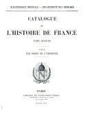 Catalogue de l'histoire de France: Biographie (suite) Supplément