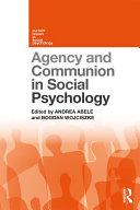 Agency and Communion in Social Psychology Pdf/ePub eBook