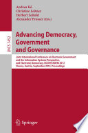 Advancing Democracy, Government and Governance