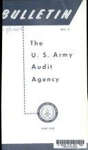 U S  Army Audit Agency Bulletin