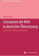Pdf Literaturen der Welt in deutscher Übersetzung Telecharger