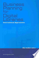 Business Planning for Digital Libraries  : International Approaches