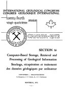 Computer based Storage  Retrieval and Processing of Geological Information