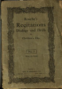 Rosche s Recitations Dialogues and Drills for Children s Day No  3