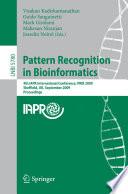 Pattern Recognition in Bioinformatics Book