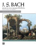 Mussette in D Major  BWV Anh  126