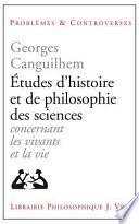 Études d'histoire et de philosophie des sciences