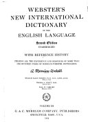 Webster S New International Dictionary Of The English Language Irr Pur