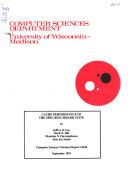 Computer Sciences Technical Report Book