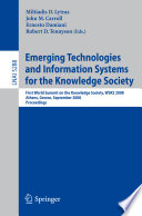 Emerging Technologies And Information Systems For The Knowledge Society Book PDF