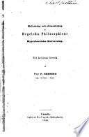 Belysning och granskning af Hegelska philosophiens hyperboreiska referering Ett kritiskt försök