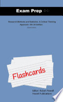 Exam Prep Flash Cards for Research Methods and Statistics: A ...