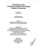 Proceedings of the     Biennial Southern Silvicultural Research Conference