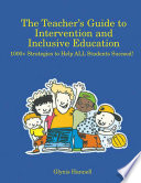 The Teacher s Guide to Intervention and Inclusive Education