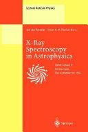 X Ray Spectroscopy in Astrophysics
