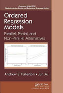 Cover of Ordered Regression Models
