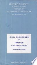 Civil Procedure in Sweden