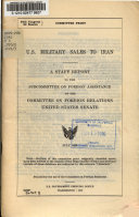 U S  Military Sales to Iran