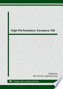 High Performance Ceramics VIII