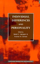 Individual Differences and Personality Book