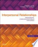 Interpersonal Relationships   E Book Book