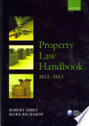 Property Law Handbook 2012-2013
