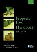 Property Law Handbook 2012-2013