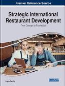 Pdf Strategic International Restaurant Development: From Concept to Production Telecharger