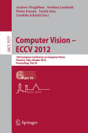 Pdf Computer Vision – ECCV 2012 Telecharger